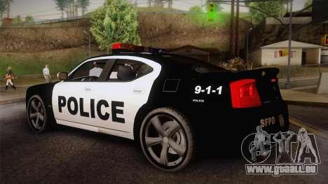Dodge Charger SRT8 Police San Fierro pour GTA San Andreas laissé vue