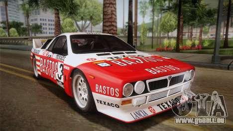 Lancia Rally 037 Stradale (SE037) 1982 HQLM PJ2 pour GTA San Andreas laissé vue