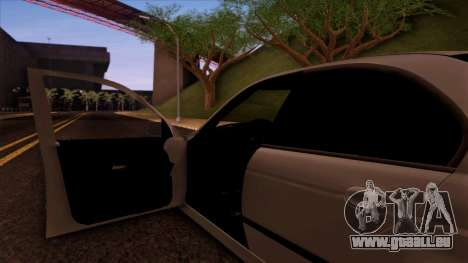 BMW M5 E39 pour GTA San Andreas vue de dessous