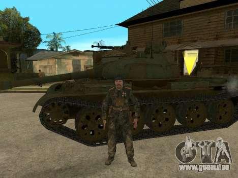 T-62 für GTA San Andreas zurück linke Ansicht