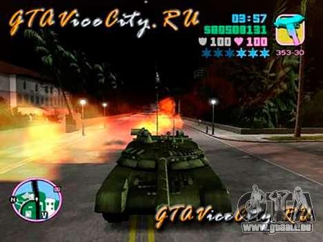 T80 pour GTA Vice City sur la vue arrière gauche