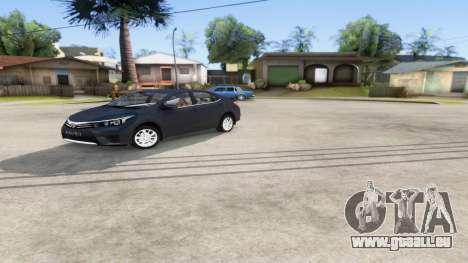 Toyota Corolla 2014 HQLM pour GTA San Andreas