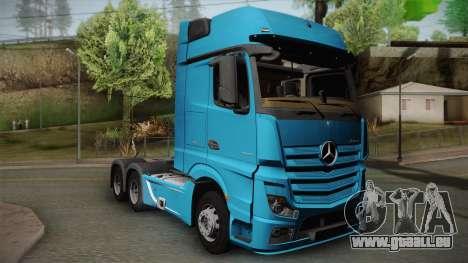 Mercedes-Benz Actros Mp4 6x4 v2.0 Gigaspace v2 pour GTA San Andreas