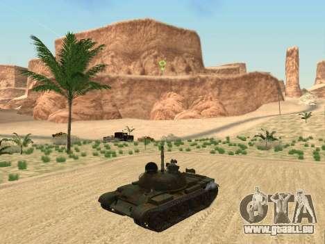 T-62 für GTA San Andreas Rückansicht