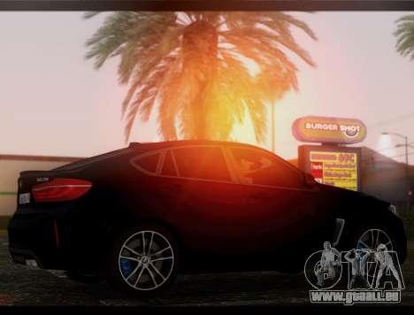 BMW X6M BULKIN ED. pour GTA San Andreas laissé vue