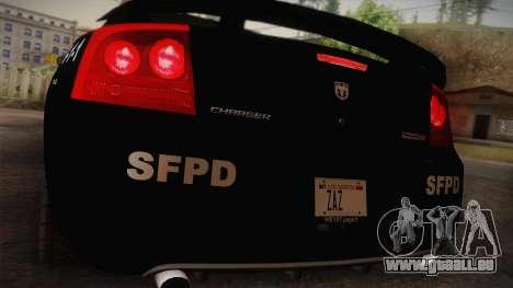 Dodge Charger SRT8 Police San Fierro pour GTA San Andreas vue de droite