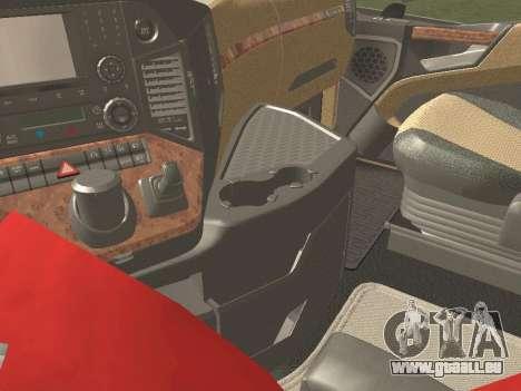 Mercedes-Benz Actros Mp4 6x4 v2.0 Gigaspace v2 pour GTA San Andreas vue arrière