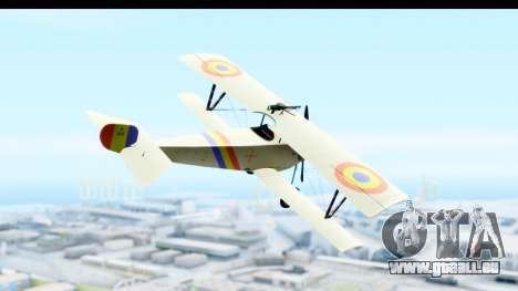 Nieuport 11 Bebe - Nr.865 Romania pour GTA San Andreas vue de droite