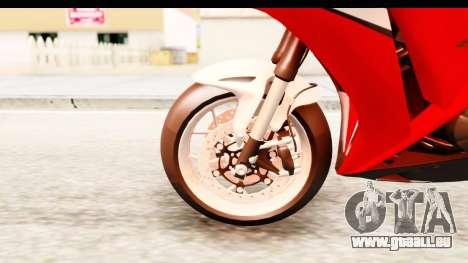 Honda CBR1000RR 2012 pour GTA San Andreas vue arrière