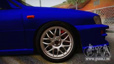 Subaru Impreza WRX STI GC8 1999 v1.0 pour GTA San Andreas sur la vue arrière gauche