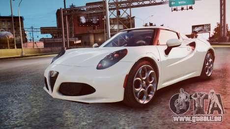 Alfa Romeo 4C 2016 für GTA 4