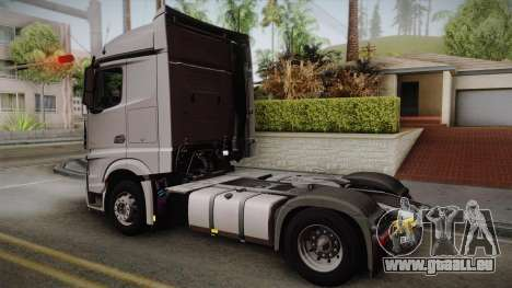 Mercedes-Benz Actros Mp4 4x2 v2.0 Steamspace v2 pour GTA San Andreas laissé vue