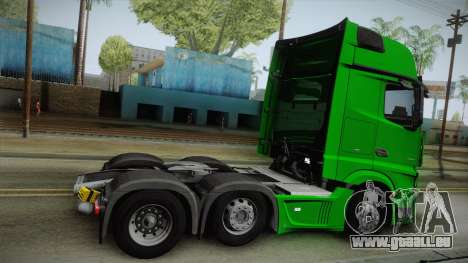 Mercedes-Benz Actros Mp4 6x2 v2.0 Gigaspace v2 für GTA San Andreas linke Ansicht