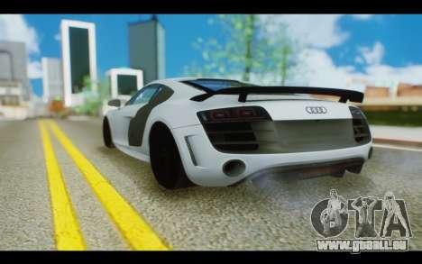 Audi R8 GT Sport 2012 pour GTA San Andreas laissé vue