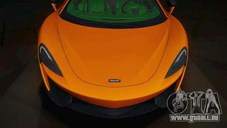 McLaren 570GT 2016 für GTA San Andreas zurück linke Ansicht