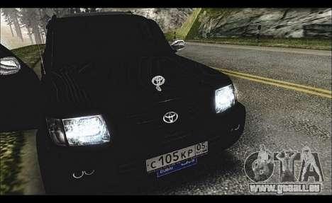 Toyota Land Cruiser 105 pour GTA San Andreas laissé vue