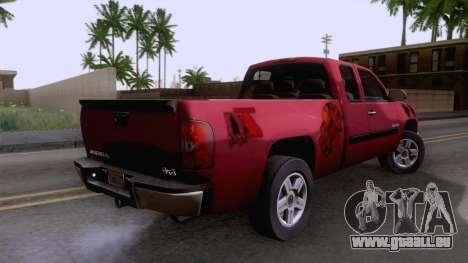 GMC Sierra 2015 pour GTA San Andreas laissé vue