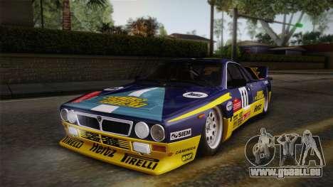 Lancia Rally 037 Stradale (SE037) 1982 IVF PJ1 pour GTA San Andreas sur la vue arrière gauche