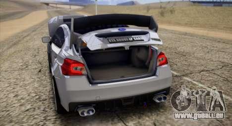 Subaru WRX STI LP400 2016 für GTA San Andreas Rückansicht