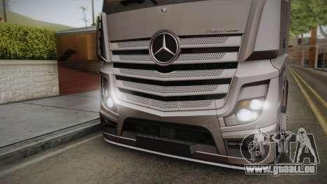 Mercedes-Benz Actros Mp4 4x2 v2.0 Steamspace v2 pour GTA San Andreas sur la vue arrière gauche