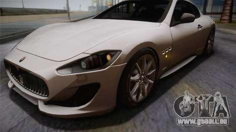 Maserati Gran Turismo Sport pour GTA San Andreas vue intérieure