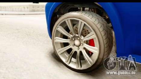GTA 5 Benefactor XLS pour GTA San Andreas vue arrière