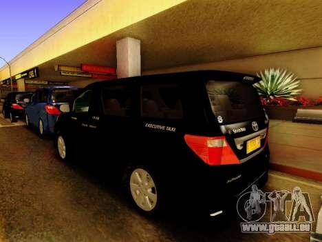 Toyota Alphard Taxi Silver Bird für GTA San Andreas linke Ansicht