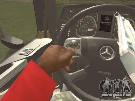 Mercedes-Benz Actros Mp4 4x2 v2.0 Gigaspace für GTA San Andreas Innenansicht