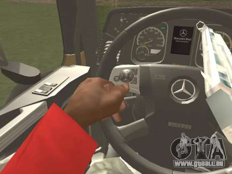 Mercedes-Benz Actros Mp4 6x2 v2.0 Steamspace pour GTA San Andreas salon
