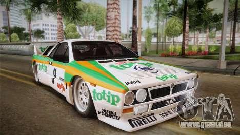 Lancia Rally 037 Stradale (SE037) 1982 HQLM PJ2 pour GTA San Andreas sur la vue arrière gauche