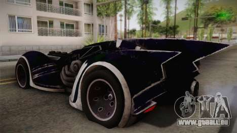 Batman Arkham Asylum Batmobile für GTA San Andreas linke Ansicht