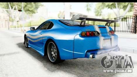 NFS: Carbon Darius Toyota Supra Updated pour GTA San Andreas laissé vue