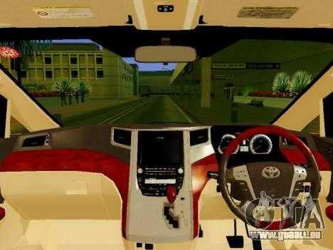 Toyota Alphard Taxi Silver Bird für GTA San Andreas rechten Ansicht