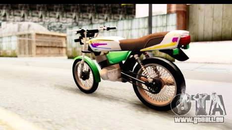 Yamaha RX115 Colombia pour GTA San Andreas laissé vue