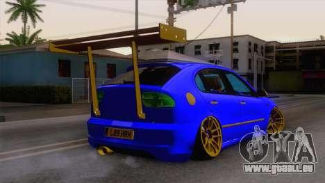 Seat Leon Haur Edition pour GTA San Andreas laissé vue