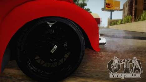 Volkswagen Beetle Escarabajo für GTA San Andreas Rückansicht