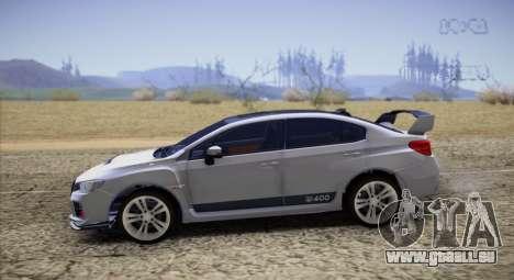 Subaru WRX STI LP400 2016 pour GTA San Andreas laissé vue