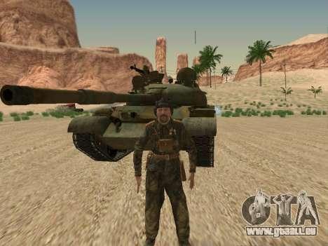 T-62 für GTA San Andreas obere Ansicht