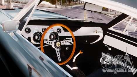Ford Mustang Shelby GT500 1967 pour GTA 4 Vue arrière