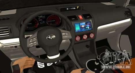 Subaru WRX STI LP400 2016 pour GTA San Andreas vue intérieure