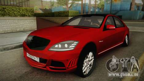 Mercedes-Benz W221 S65 Stance v2 pour GTA San Andreas