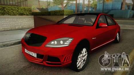 Mercedes-Benz W221 S65 Stance v2 pour GTA San Andreas