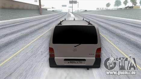 Mercedes-Benz Vito pour GTA San Andreas vue arrière