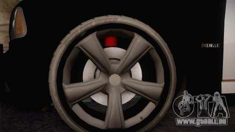 Dodge Charger SRT8 Police San Fierro pour GTA San Andreas vue arrière