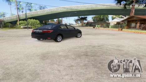 Toyota Corolla 2014 HQLM pour GTA San Andreas laissé vue