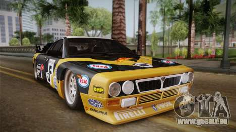 Lancia Rally 037 Stradale (SE037) 1982 IVF PJ2 für GTA San Andreas zurück linke Ansicht