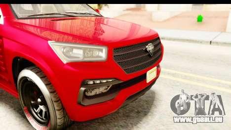 GTA 5 Benefactor XLS Armored IVF pour GTA San Andreas salon