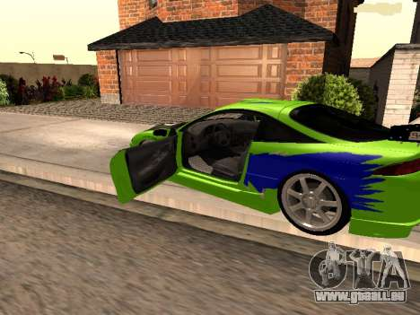 Mitsubishi Eclipse The Fast and the Furious pour GTA San Andreas laissé vue