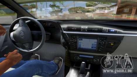 Toyota Corolla 2014 HQLM pour GTA San Andreas sur la vue arrière gauche