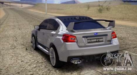 Subaru WRX STI LP400 2016 pour GTA San Andreas sur la vue arrière gauche